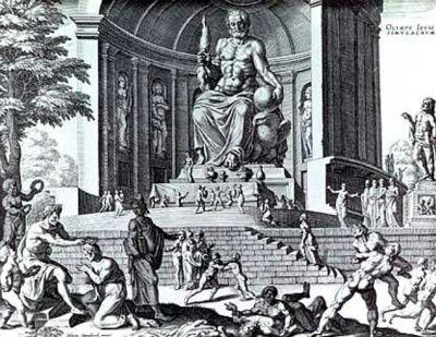 زئوس ، خدای خدایان ، خدای آسمان ، خدای باران و خدای گردآوری ابرها، رئیس و رهبری قدرتمند